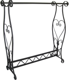 Contemporary Raw Steel Finish Two Hanging Rail Bar Rack MM-TYSK18D
