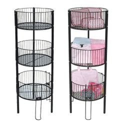 3-Tier Round Dump Bin with 3 Baskets MM-1846