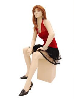 Fiberglass Seated Fleshtone Female Mannequin with Stool MM-A5F1 SALE