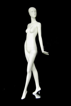 Gloss White Abstract Egg Head Female Mannequin w/face features MM-XD010W