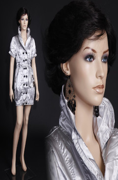 Free Shipping Fiberglass Fleshtone Female Mannequin MM-ECHO