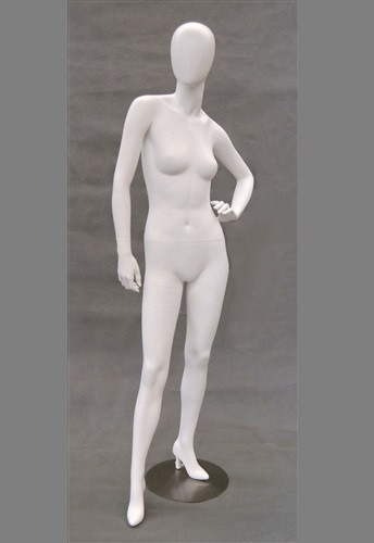 Grace, Matte White Abstract Egg Head Female Mannequin MM-GS7W2