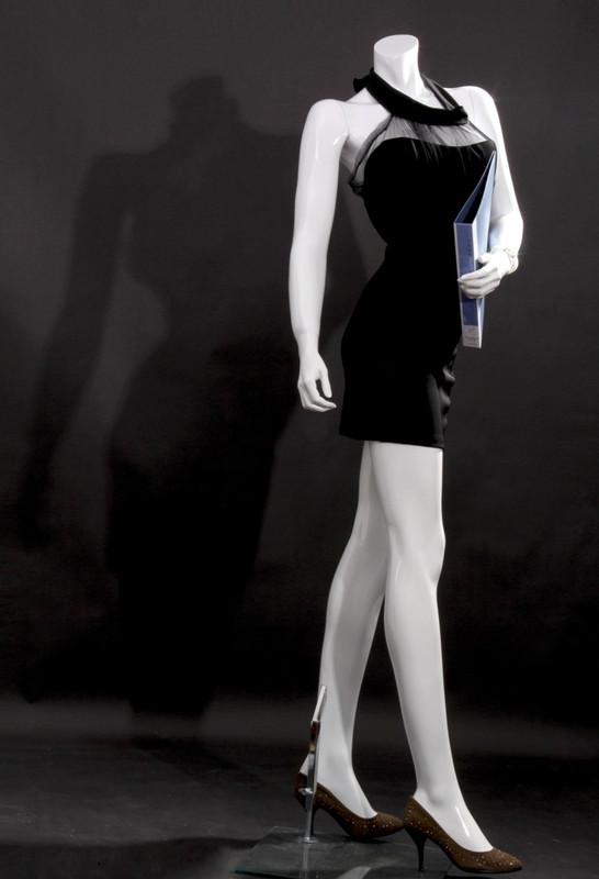 Free Shipping Fiberglass Gloss White Headless Female Mannequin MM-LISA10BW