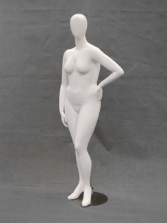 Matte White Abstract Plus Size Egg Head Female Mannequin MM-NANCYW3-1