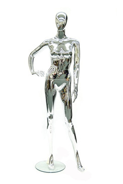Megan, Chrome Abstract Female Mannequin MM-PS8013CM