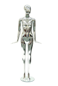 Madison, Chrome Abstract Female Mannequin MM-A11CM