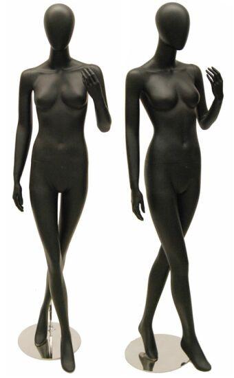 Taylor, Matte Black Abstract Egg Head Female Mannequin MM-KAT02