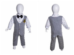 Gloss White Abstract Egg Head Child Mannequin MM-MIU04