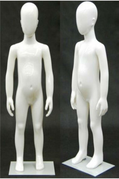 Plastic White Abstract Egg Head Child Mannequin MM-PS2YEG