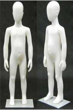 Plastic White Abstract Egg Head Child Mannequin MM-PS2YEG