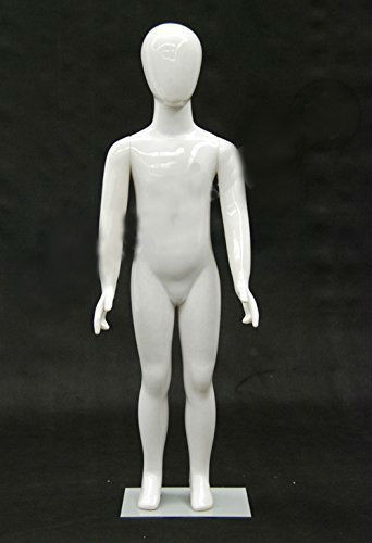 Plastic White Abstract Egg Head Child Mannequin MM-PS4YEG
