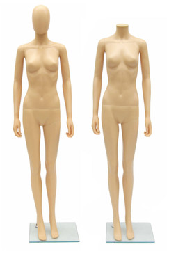 Fleshtone Plastic Female Egg Head Mannequin MM-PS-SF6F-EG