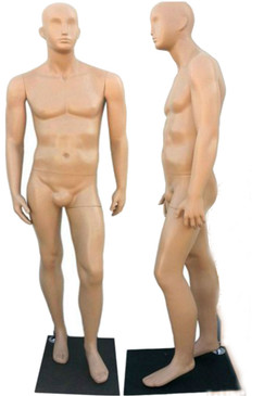 Fleshtone Plastic Male Abstract Mannequin with face features MM-PS959F