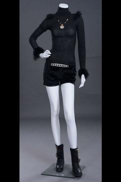 Zandra, Fiberglass Headless Female Mannequin Matte White MM-PL9BW2