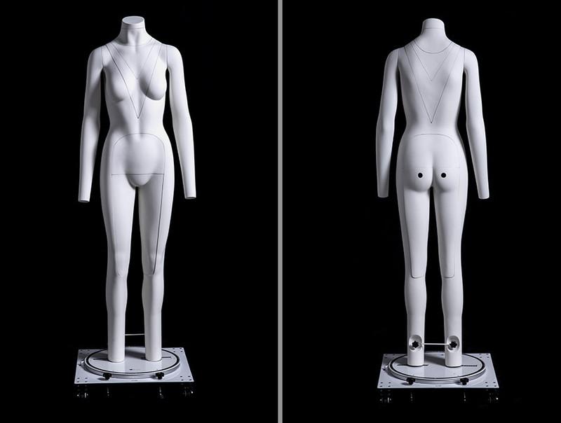 "Sara, Fiberglass Invisible Female ""Ghost"" Mannequin MM-GH05"