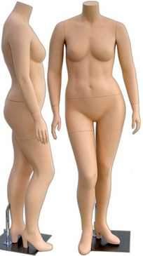 Abby, Fiberglass Fleshtone Headless Plus Size Female Mannequin MM-310