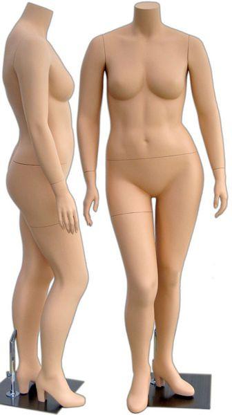 Abby, Fiberglass Fleshtone Headless Plus Size Female Mannequin MM-310
