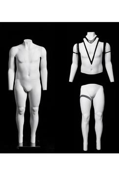 """Casper 3, Fiberglass Invisible Male """"Ghost"""" Mannequin MM-GH09"""