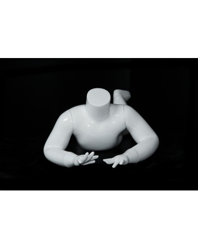 "Gloss White Fiberglass Headless Child Mannequin 24"" MM-A1-9W"