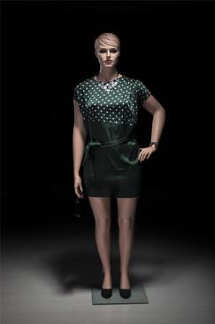 Realistic Plus Size Female Mannequin Fleshtone with Molded Hair MM-AVIS-03