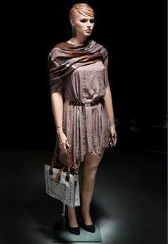 Realistic Plus Size Female Mannequin Fleshtone with Molded Hair MM-AVIS-01