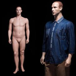 Realistic Plus Size Male Mannequin Fleshtone MM-PLUSMAN-02