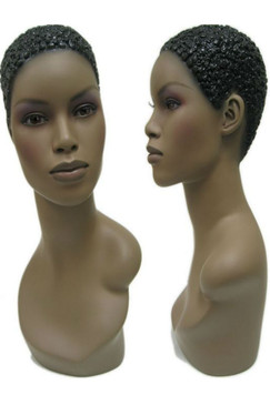 African American Female Display Head MM-303FH