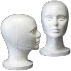4 White Styrofoam Female Display Head MM-408