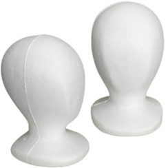 4 White Children Size Styrofoam Mannequin Heads MM-519
