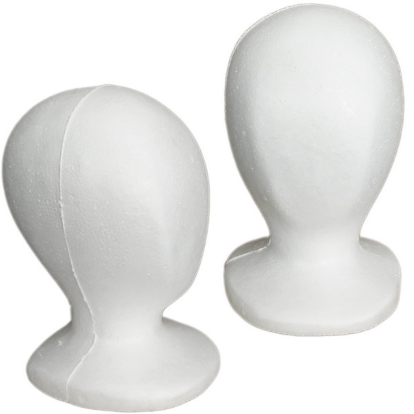 4 White Children Size Styrofoam Mannequin Heads Mm 519