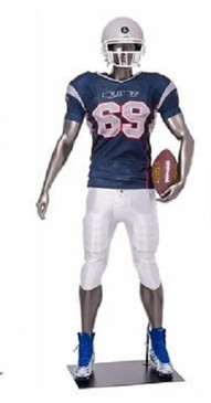 Brady, Football Player Male Mannequin Gloss Grey MM-Brady06