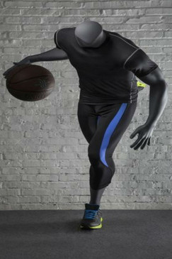 Matte Grey Athletic Headless Male Basketball Mannequin MM-NI-03