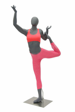 Katrina, Fiberglass Female Abstract Athletic Sports Yoga Mannequin MM-HEF65EG