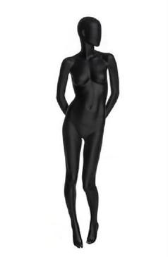 Tameka, Matte Black Abstract Egg Head Female Mannequin MM-OZIB02