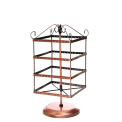 "Square Boutique Earring Rotating Holder Display 14"" H"