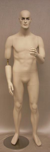 Flexible Male Mannequin - Short Version Fleshtone MM-BC8S