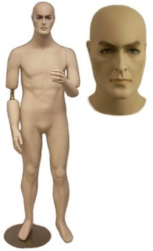 Flexible Male Mannequin - Short Version Fleshtone MM-BC8S
