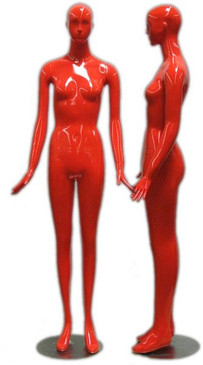 Dolly, High-End Glossy Red Abstract Female Mannequin with face features MM-165RED