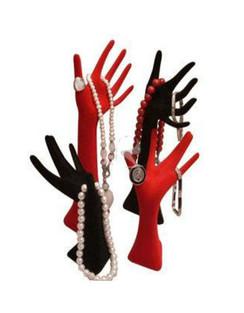 Velvet Display Jewelry Hands MM-JW-HD14B+14R+15B+15RV