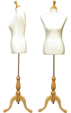 Cream Ladies French Dress Form - Pinnable MM-103