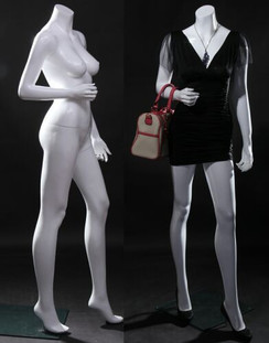 Free Shipping Fiberglass Gloss White Headless Female Mannequin MM-LISA07BW