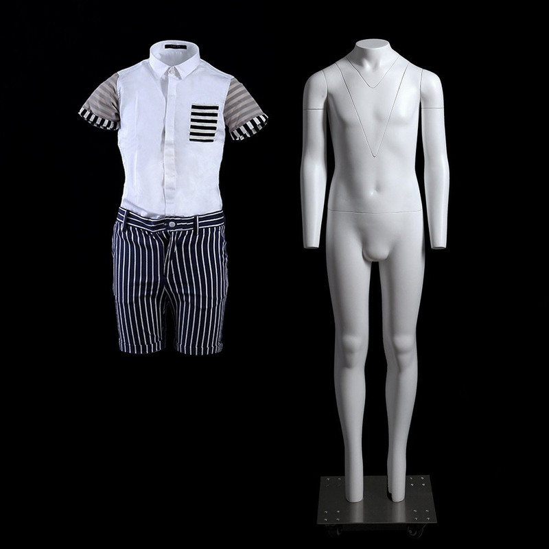 """Child """"Ghost"""" Mannequin with V-Neck Size 12 with Base MM-GHK12"""