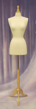 Used Cream Female Body Form size 6/8 with Base MM-JF6/8W (MM-JF6/8WUSED)