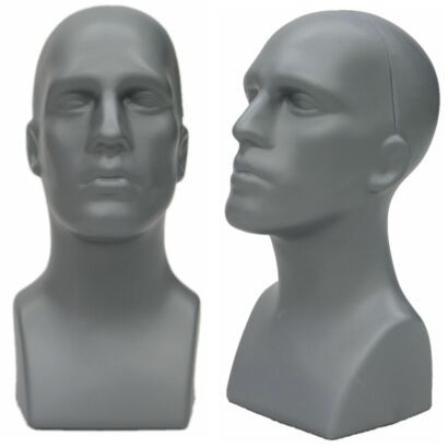 Gray Plastic Male Display Head MM-PS-M-GY