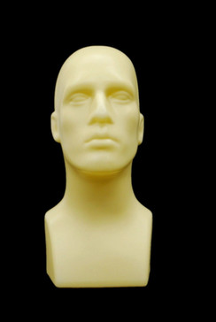 Fleshtone Plastic Male Display Head MM-PS-M-FLESH