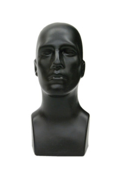 Black Plastic Male Display Head MM-PS-M-BLK