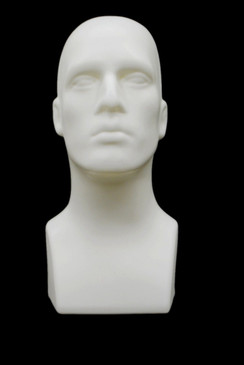 White Plastic Male Display Head MM-PS-M-W