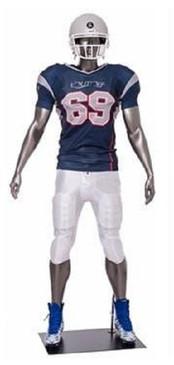 Brady, Football Player Male Mannequin Gloss Grey MM-Brady03
