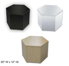 "12"" Ht. Hexagonal Display Cubes MM-HX2012W"