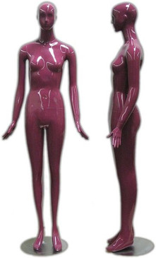 Deb, High-End Glossy Purple Abstract Female Mannequin with face features MM-165PU